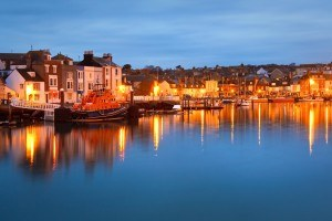 Weymouth harbour in Dorset, UK.